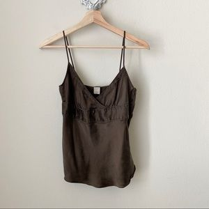 J Crew 100% silk brown camisole